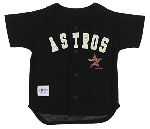 Mighty Mac Houston Astros MLB Little Boys Toddler Vintage Baseball Jersey, Black (4T, Black)