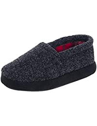 Toddler Boys Kids Slippers Cozy Comfy Indoor Slip-On Anti-Slip Sole House Shoes