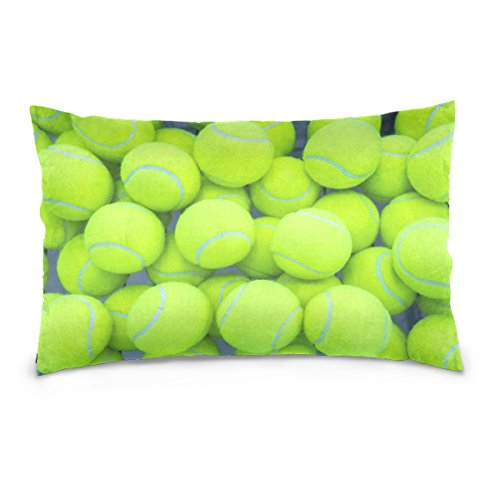 ALAZA Tennis Ball Sport Cotton Lint Pillow Case,Double-sided Printing Home Decor Pillowcase Size 16