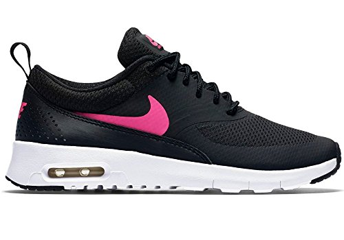 Nike Girls Air Max Thea, Black/White/Hyper Pink, 3.5 Big Kid M by NIKE