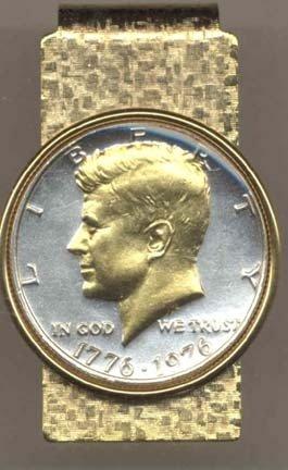 JOHNSON & JOHNSON Bicentennial Kennedy Half Dollar (1976)...