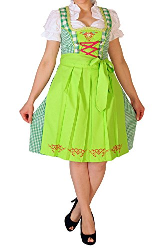 Robe Alm271 3 Costume Folklorique De Pièces 32 Tablier Alpenmärchen Ensemble Taille 60 Chemisier Dirndl Vert qaY6BAw