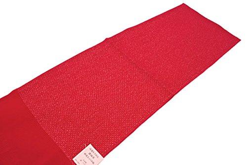 帯揚げ 赤 レッド ラメ糸 正絹 丹後ちりめん ふくれ織