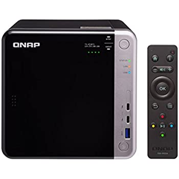 QNAP TS-453BT3-8G-US 4-Bay Thunderbolt 3 NAS. Intel Celeron Apollo Lake J3455 Quad-core CPU, 8GB RAM, SATA 6Gb/s