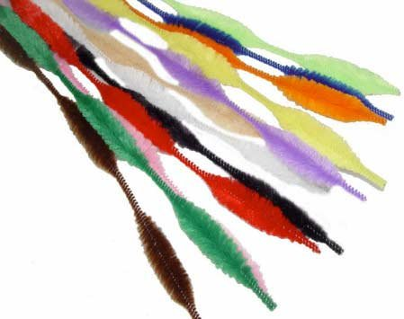 Bumpy Chenille Stems - Assorted Colors Bumpy Chenille Stems 72 Total (6 Bags of 12pc)