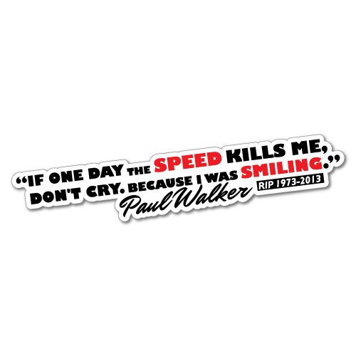 Tribute Racing I Was Smiling Sticker Decal JDM Car Drift Vinyl Funny Turbo
