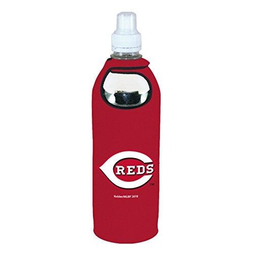 Cincinnati Reds 1/2 Liter Water Soda Bottle Koozie Holder Cooler with Clip Baseball