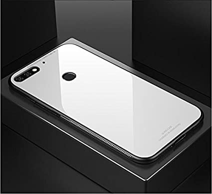 new styles dd905 3784a Brain Freezer J Shockproof TPU Back Cover with Tempered Glass for Huawei  Honor 7C (White)