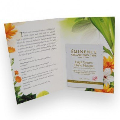 Eminence Eight Greens Phyto Masque Card Sample Set of 6 Travel Size *Hot* ()