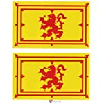 iLuv Sticker Scottish Lion Rampant Flag Mini x 2