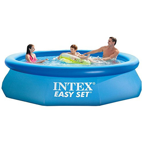 intex 10 39 x 30 easy set above ground inflatable swimming pool import it all. Black Bedroom Furniture Sets. Home Design Ideas