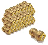 | (Pack of 250) 1/2 inch x 1/2 inch Coupling Connect Fittings, Lead Free Brass