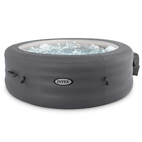 Intex 28481E Simple Spa 77in x 26in Inflatable Hot Tub Bubble Jet Spa with Filter Pump & Cover