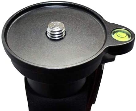 XIAOMIN 76mm High Precision Add-On Offset Bubble Spirit Level Plate for Tripod Ball Head Premium Material