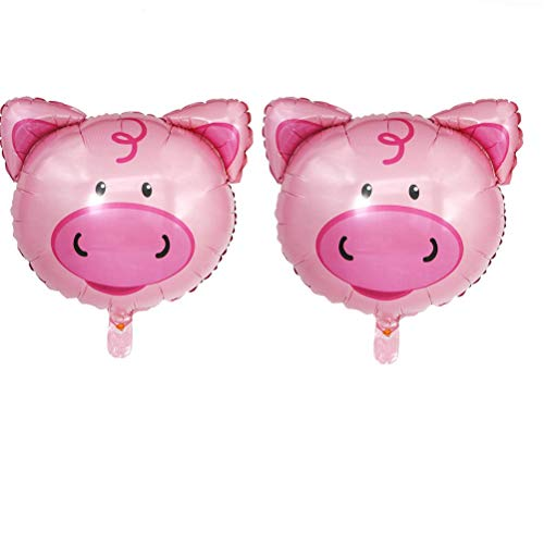 Cha Long 2 Pcs Pig Balloons Helium Balloons Inflatable Toys Balloons Happy 2019 Chinese New Year Decorations Cartoon Animal Balloon Kids Toy Balloons Wedding Birthday Party Decoration]()