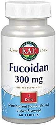 Kal 300 Mg Fucoidan Tablets, 60 Count
