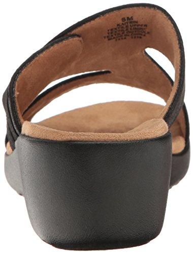 Easy Spirit Womens Kaitrin2 Wedge Slide Sandal Black Fabric oQg5A
