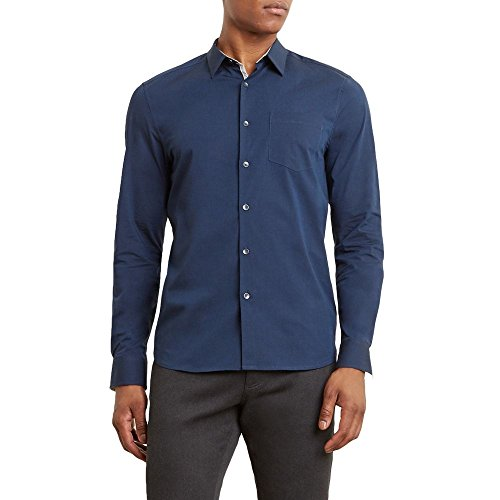Reaction Kenneth Cole Long-Sleeve Stretch Dress Shirt - Men's - Indigo - Kenneth Cole Long Sleeve Dress Shirt