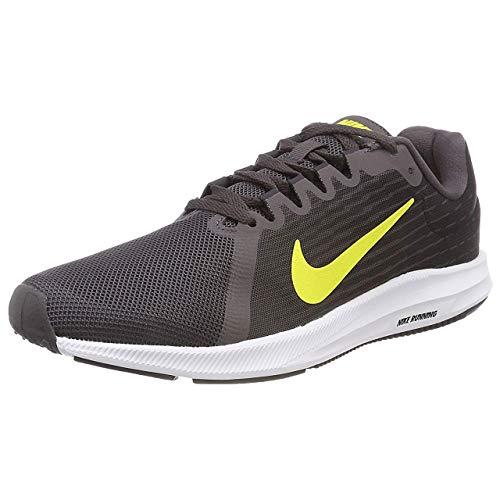 (Nike Men's Downshifter 8 Running Shoe, (10 D(M) US, Thunder Grey/Dynamic Yellow-Oil Grey))
