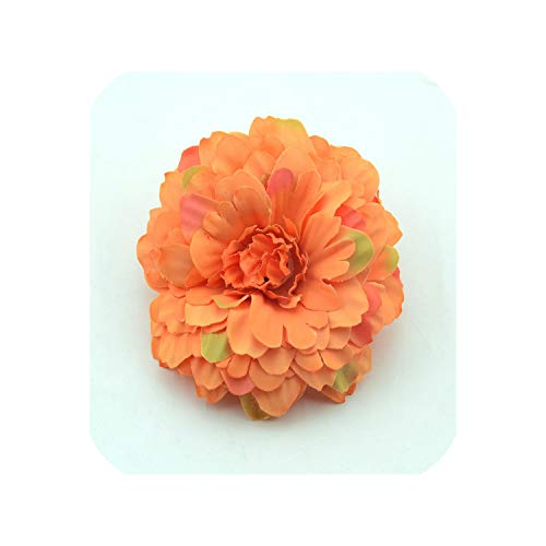 5PCS 7cm Chrysanthemum Artificial Silk Flower Head for Home Wedding Party Decoration,Orange -