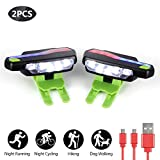 LED Shoes Lights for Night Runner, Running Lights for Runners,Night Trek Shoe Lights and Armband Lights for Running, Jogging, Walking, Hiking, Camping, Hunting and Fishing