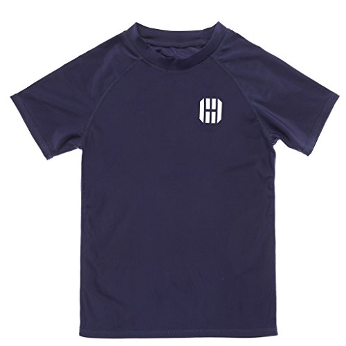 CharmLeaks Short Sleeve Boys Swimsuit Rash Guard UV Protection Suit Top 12