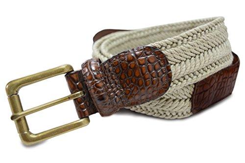 "Cotton Embossed Belt (7917-TAN - Marco LTD Men's Cotton Braided Dress Belt 44(fits 42"")"