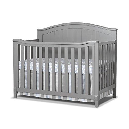 Sorelle Fairview 4-in-1 Convertible Crib, Grey