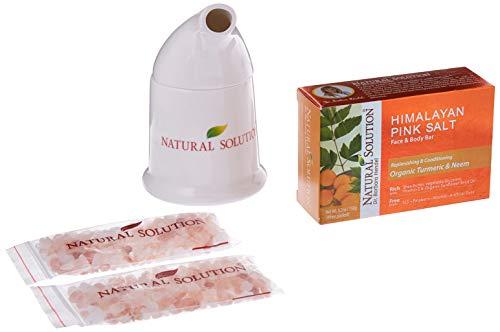 Natural Solution Pink Himalayan Salt Inhaler with 2 Pink Himalayan Crystal Salt Bags + Free Soap Bar