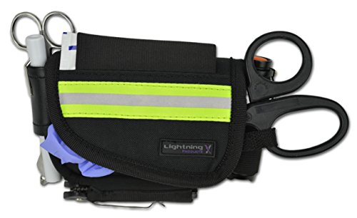 (Lightning X First Responder Stocked First Aid Hip/Belt Pouch Kit for Quick Response EMS EMT Camping)