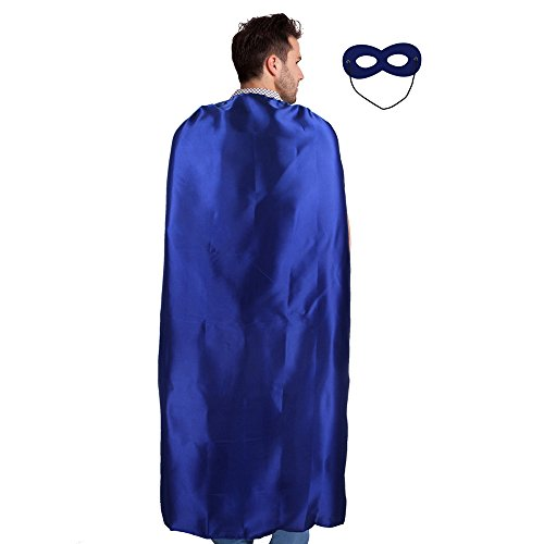 Up Costumes Dress 90's (Men & Women's Superhero Cape or Cloak with Mask for Party Dress up Costumes)