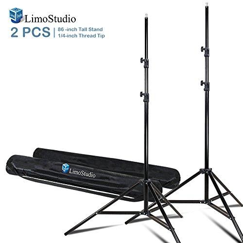 LimoStudio 2 Sets of 7.5 ft. Photo Studio Light Stand Tripod for Photo Video Studio Softbox or Umbrella Lights, Umbrella Mount Adapter, Any Camera or Lighting Mount, AGG2346V2 by LimoStudio