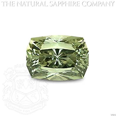 Amazon.com: Natural Sin Tratar Sapphire de oliva, 1,83 CT ...