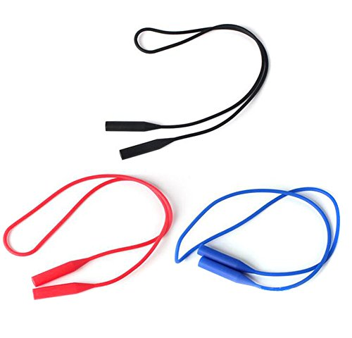 3Pcs Three Color Silicone Sunglass Keepers-Sunglass Holder Strap No Tail Adjustable Eyewear - Singapore Sunglasses