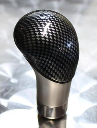 WES 00052 Schaltknauf Carbon Silber