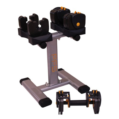 Performance Fitness Systems Adjustable Dumbbells with Stand - 3-24 lbs. by PFS (Image #2)