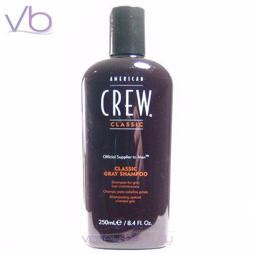 Soins des cheveux - American Crew - Hommes Classique Gris Shampoo (Optimal Entretien Pour Cheveux gris) 250ml / 8,45 onces