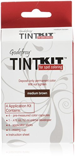 Godefroy 4 Applications Tint Kit, Medium Brown Hair Dye Eyebrows