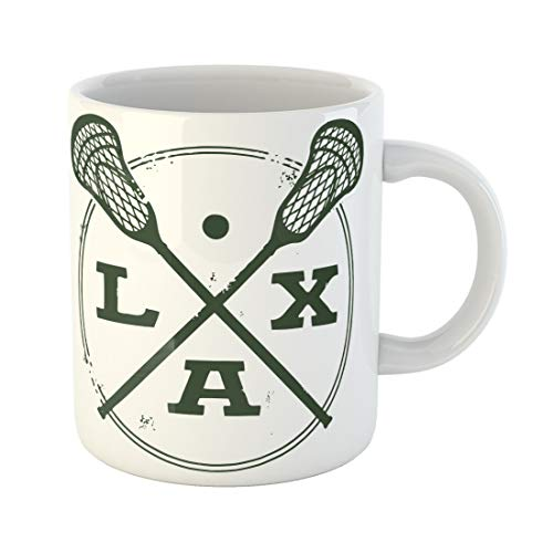 9436c3f0737 Semtomn Funny Coffee Mug Stick Lacrosse Lax Vintage Style Stamp Vector Icon  Crossed Background 11 Oz Ceramic Coffee Mugs Tea Cup Best Gift Or Souvenir