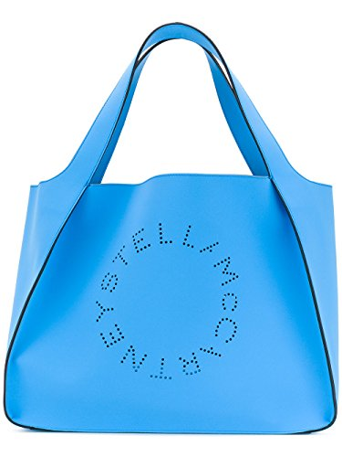 Stella Mccartney Borsa Shopping Donna 502793W82384203 Poliestere Azzurro