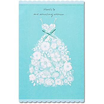 Amazon hallmark wedding shower card dress office products american greetings amazing woman bridal shower card with ribbon m4hsunfo