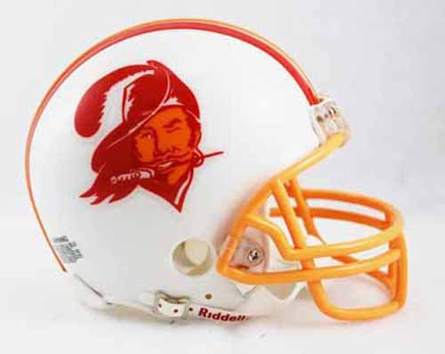 1996 Riddell Mini - Tampa Bay Buccaneers Bucs 1976-1996 Throwback Riddell Mini Football Helmet - New in Riddell Box