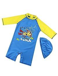 Achiyi Baby Boys One Piece Swimsuits Bathing Suits Sun Protection UPF50+ Swimwear Sunsuits Quick Dry Rash Guard Surf Oufits