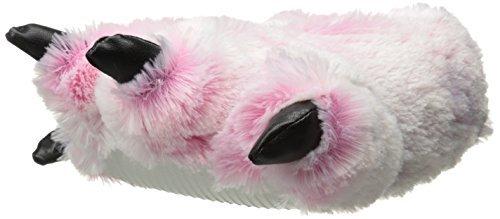 Wishpets 15 Pink Furry Tiger Plush Slippers Medium by Wishpets