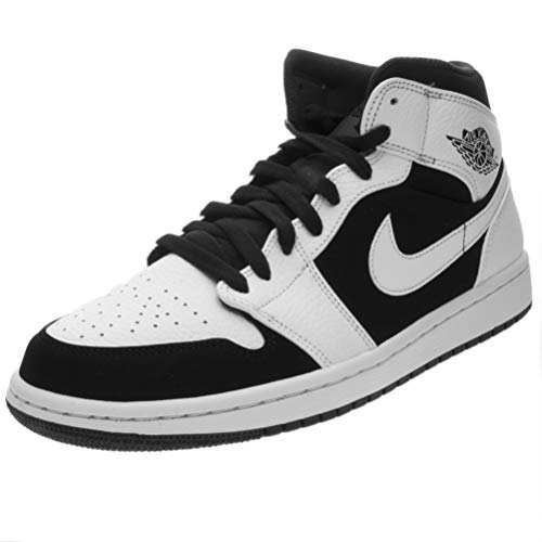 Jordan Men's Air Retro 1 Basketball Shoe, White/Black-White, 10.5