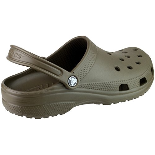 Crocs Mens Classic Unisex Croslite Breathable Strap Beach Clog Brown Brown