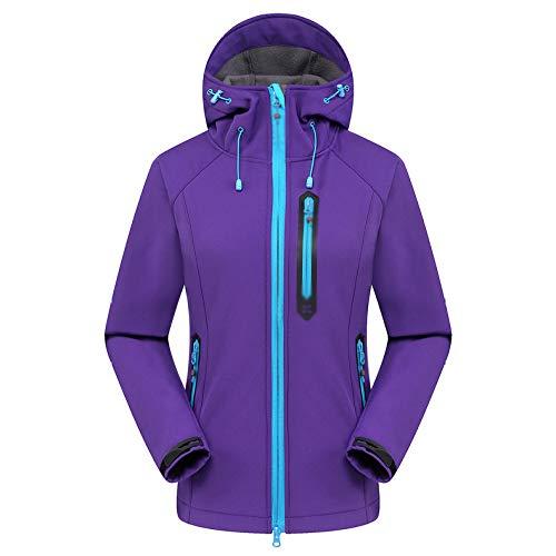 Vestes Vêtements Casual vent Outdoor D'extérieur Cordon Femme Zippées Sport Purple Pour Épaisses De Coupe qrtrw4ax