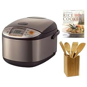 Zojirushi 5-1/2 Cup Micom Rice Cooker w/ 15-Inch Bamboo Spatula & Cookbook