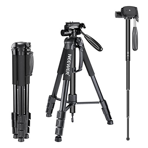 - Neewer Portable Aluminum Alloy Camera 2-in-1 Tripod Monopod Max. 70