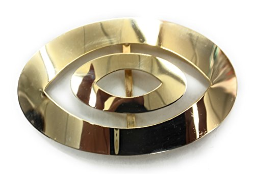 Designer Belt Buckle Slider for Women Plated 14 kt Gold Polished 1-7/8'